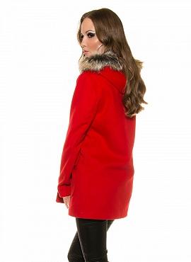 palton-rosu-ieftin