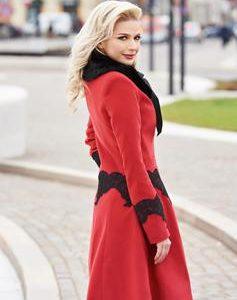 palton rosu ladonna