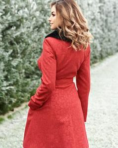 palton rosu gros