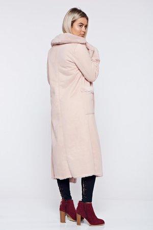 palton-dama-elegant-rosa