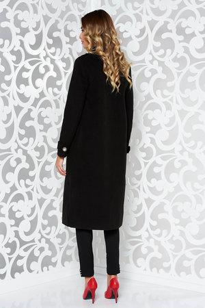 palton negru lung
