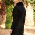 palton negru lana