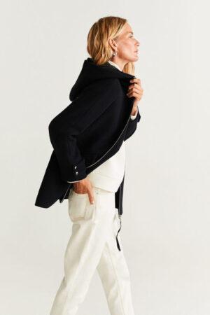 palton cu fermoar