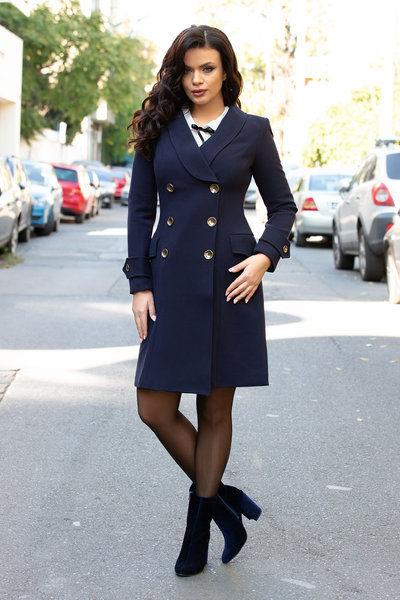 palton dama bleumarin