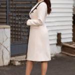 palton elegant crem