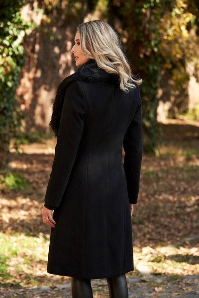 palton negru de iarna