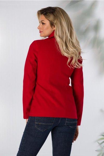 palton rosu scurt