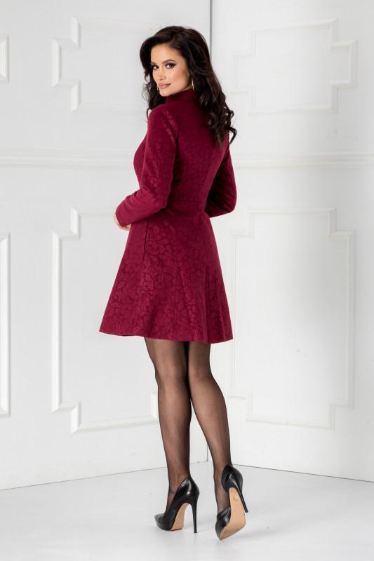 palton scurt violet