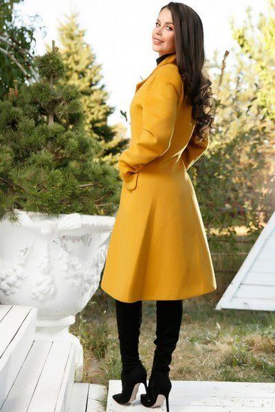 Palton dama galben