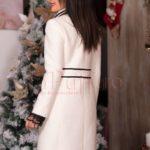 palton alb din lana