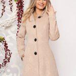 palton crem elegant