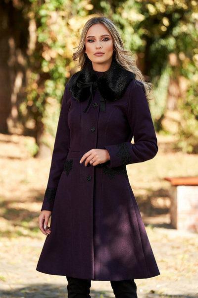 palton mov elegant