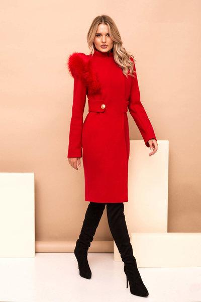 palton dama rosu