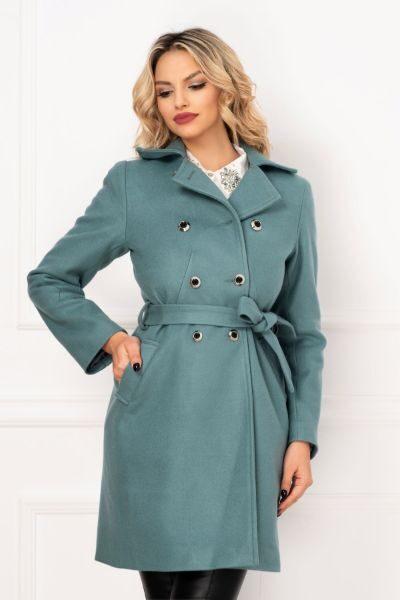 palton bleu