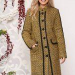palton mustariu casual