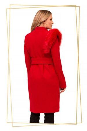 palton rosu dama