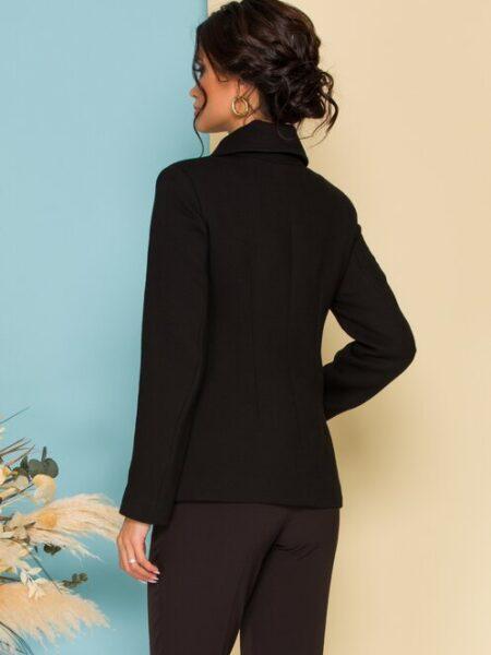 palton scurt negru