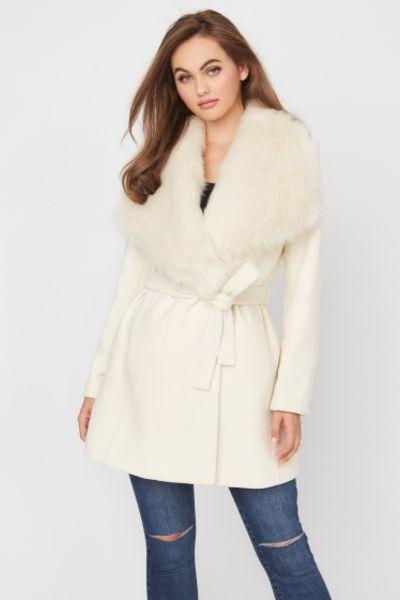 palton alb