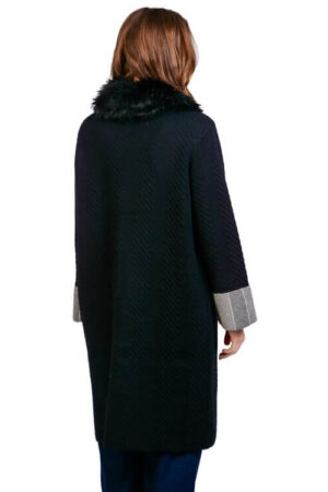 palton casual negru