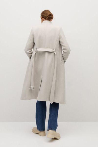 palton elegant alb