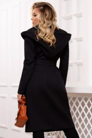 palton negru stofa