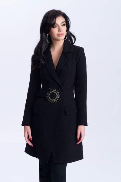 palton deosebit negru
