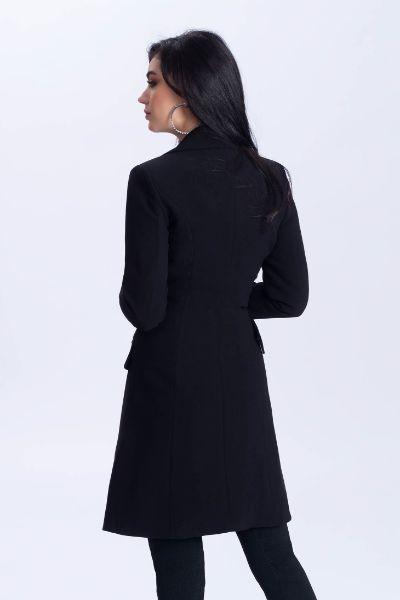 palton elegant negru