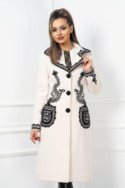 palton ivoire dama