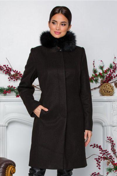 palton negru cu guler