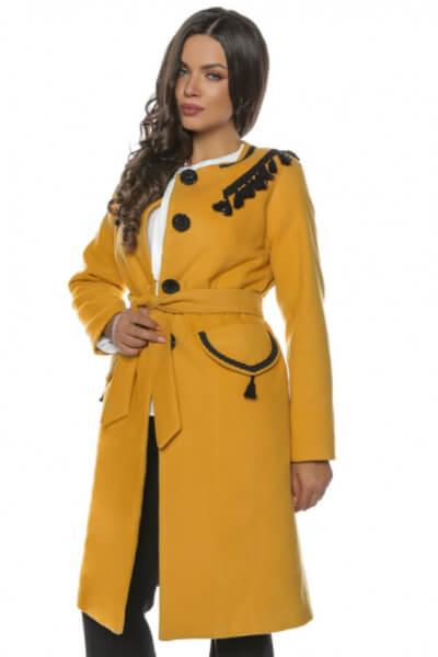 palton-galben-mustar de iarna