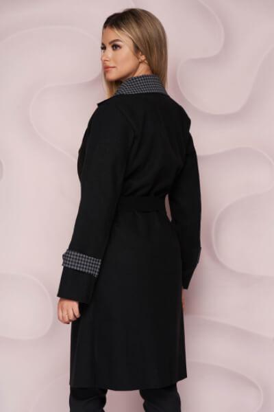 trench-negru dama