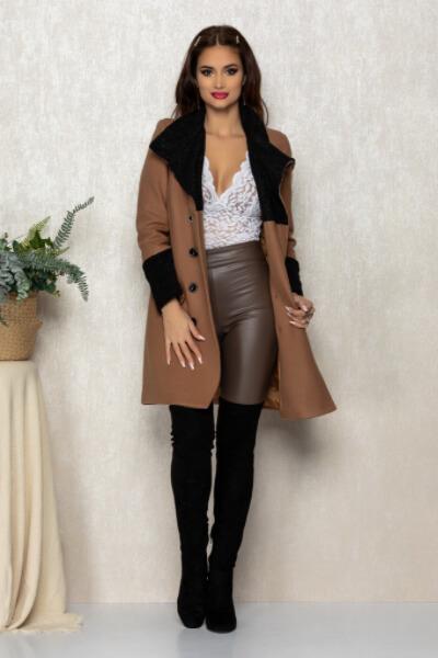 Paltonul mediu maro dama