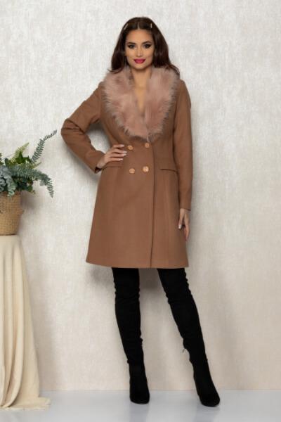 palton elegant maro lana
