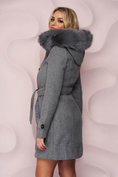 palton-gri-elegant dama