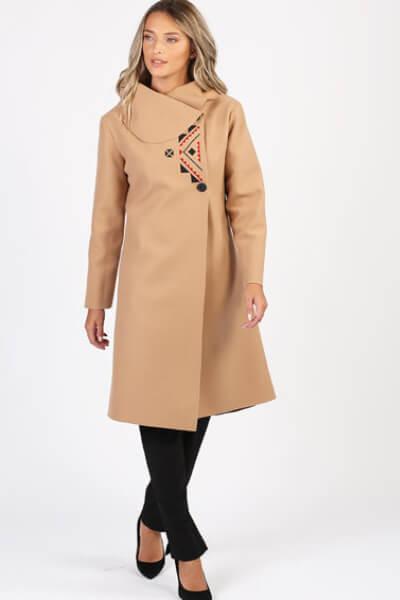 palton maro dama iarna din lana